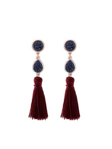 Elegant Female Tassel Simple Style Drop Earrings