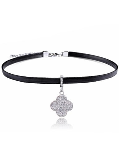 Stainless Steel With Fashion clover Necklaces