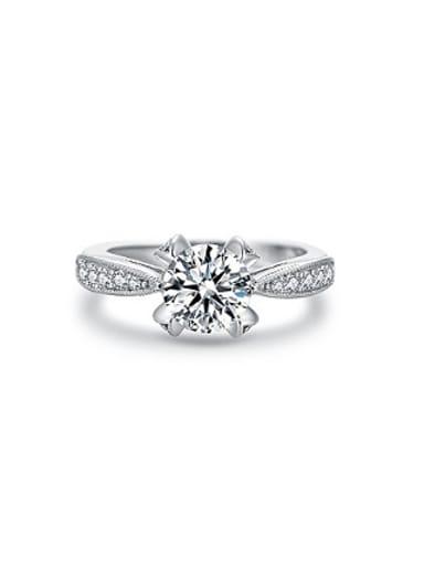 Exquisite 925 Silver Zircon Women Ring