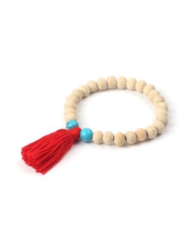 Simple Wooden Beads Creative Tassel Bracelet