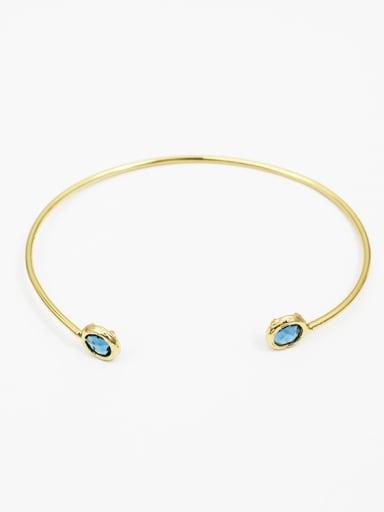Women Exquisite Open Design Glass Bangle