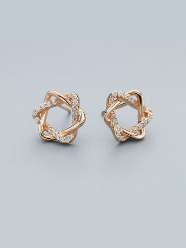 2018 Rose Gold Plated Star Shaped Earrings