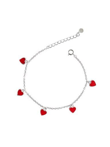 Little Red Heart-shaped Stud Earrings