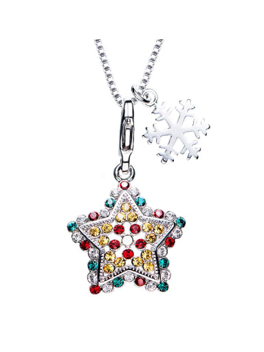 Star Shaped Multi-color Necklace