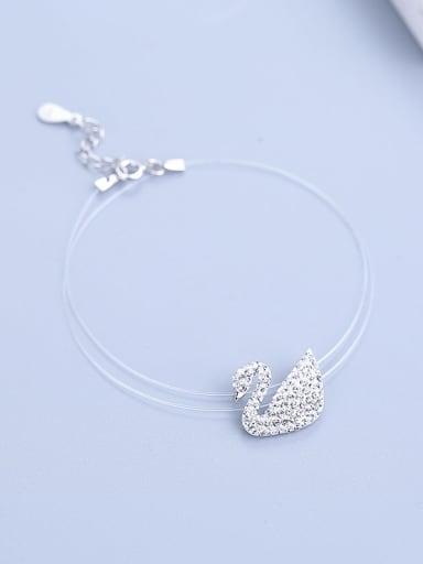 925 Silver Swan Collar