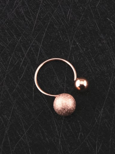 Simple Temperament Double Balls Opening Ring