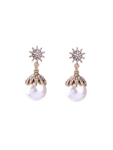 Artificial Pearls Drop stud Earring