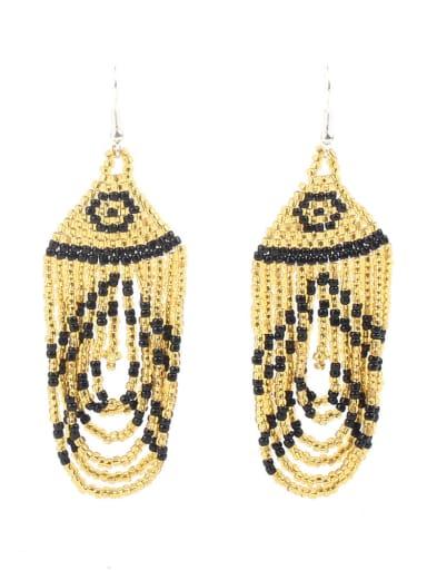 Western Style Water Drop Tassel Drop Earrings