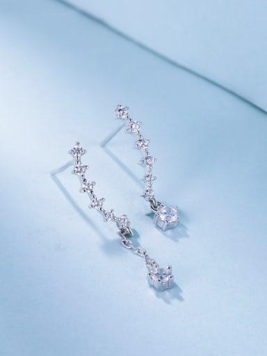Trendy Round Shaped Zircon cuff earring
