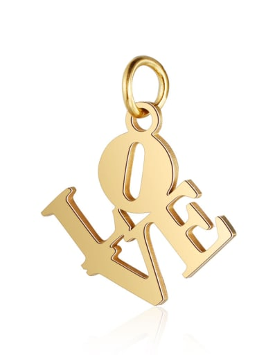 Stainless Steel With Gold Plated Classic Monogrammed Charms