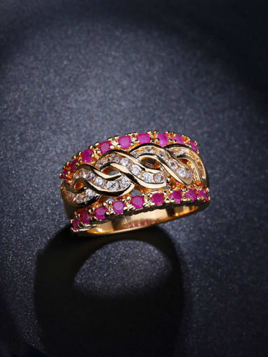 Gold Plated Zircons Multistone ring