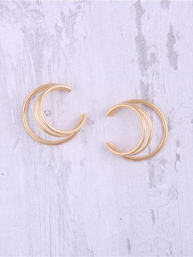 Titanium With Gold Plated Simplistic Semicircular Ear Bone Clip