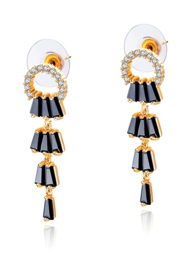 Copper With 18k Gold Plated Trendy  Samba Irregular Earrings