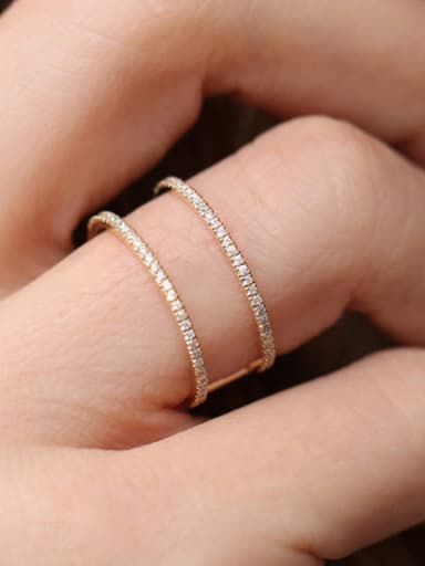 Copper With Gold Plated Trendy Cubic Zirconia Band Rings