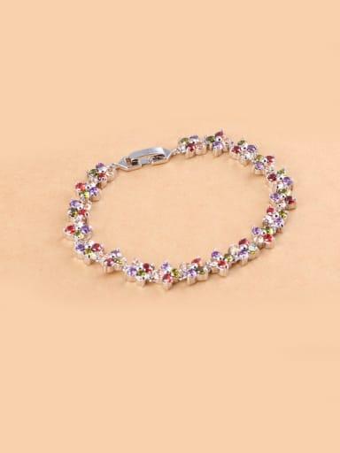 AAA Zircon All-match Colorful Zircon  Bracelet