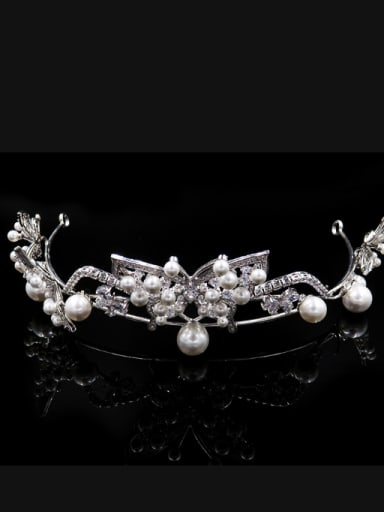 Simple Exquisite Artificial Pearls  Zircons Hair Accessories