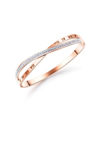 Stainless Steel With Rose Gold Plated Personality Irregular Bangles