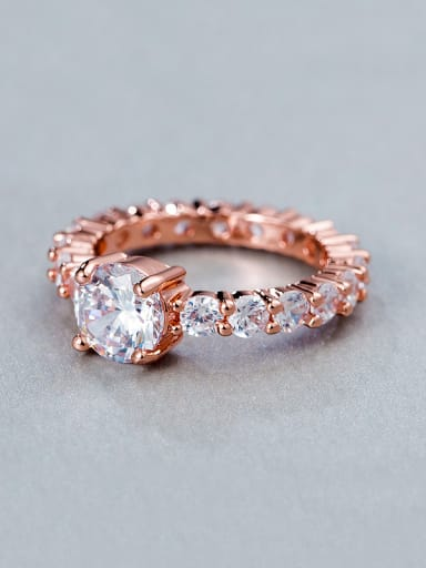 Rose Gold Plated Zircon Ring