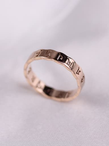 Hollow Words Retro Style Ring
