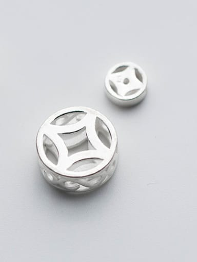 925 Sterling Silver With Silver Plated Trendy Round Charms