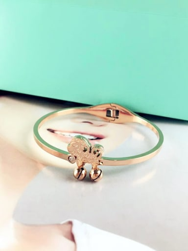 Monkey Accessories Rose Gold Plated Bangle