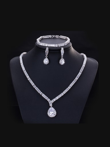 Simple Style Wedding Three Pieces Jewelry Set