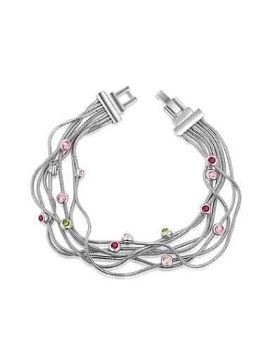 Multi-layer Colorful Austria Crystal Bracelet