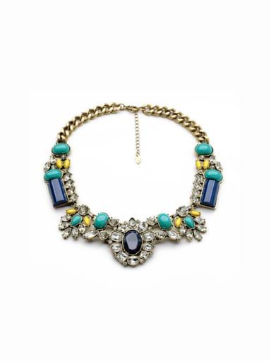 Luxury Flower Stones Women Necklace