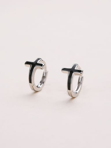 Women Simply Style Cross Clip Earrings