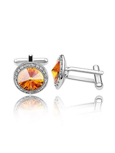 Fashion Cubic Swarovski Crystal Alloy Men Cuffinks