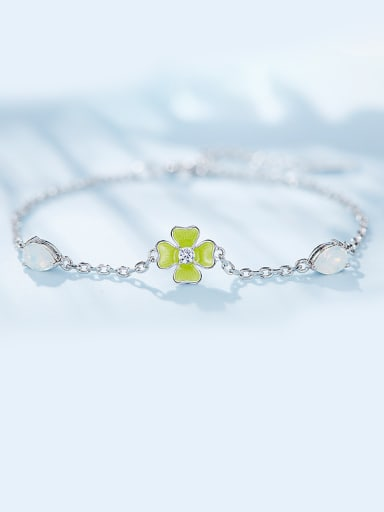 S925 Silver Flower-shaped Bracelet
