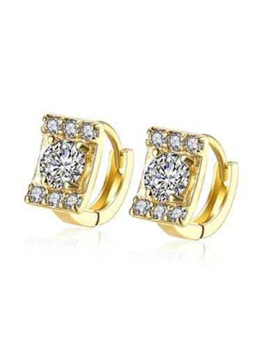 Fashion Zircon Rectangular Women Earrings