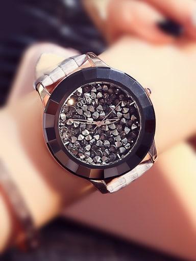 GUOU Brand Fashion Shiny Round Watch