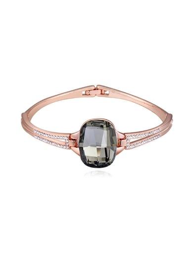 Fashion Rose Gold Plated Swarovski Crystal Alloy Bangle