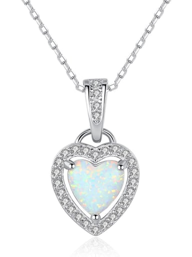 925 Sterling Silver With  Personality Heart Necklaces