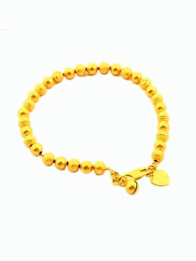 Personality 24K Gold Plated Heart Shaped Charm Bracelet