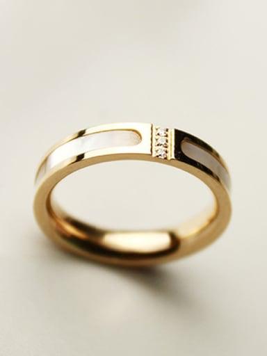Lover Titanium Steel Plating Ring