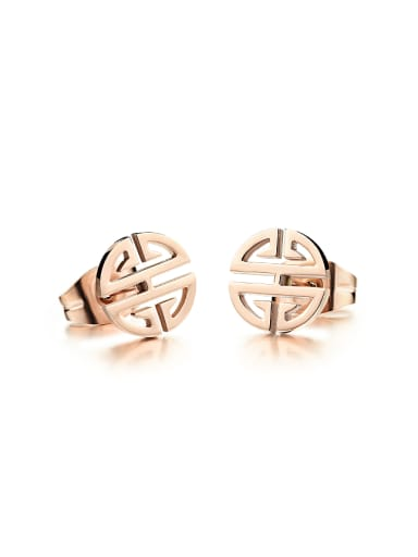 Simple Tiny Rose Gold Plated Stud Earrings