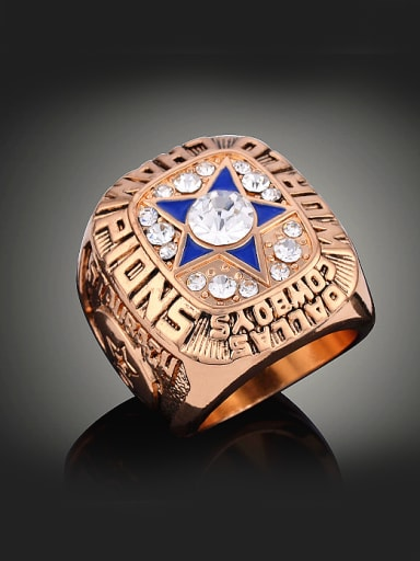 Personalized 1971 American Football Dallas Cowboys Champions Alloy Ring