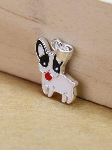 Cute Huskie Puppy Dog Glue 925 Silver Pendant
