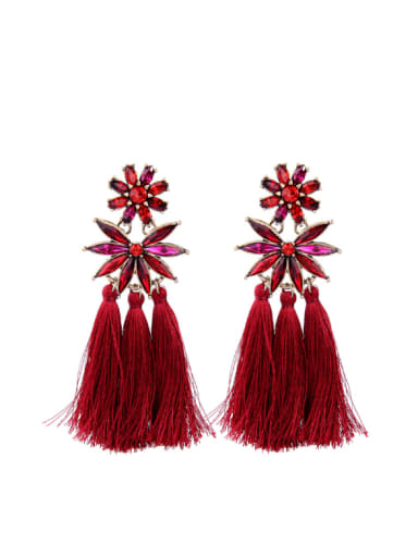 Western Style Retro Temperament Tassel Drop Earrings
