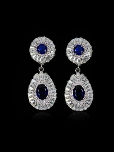 Fashion Wedding Water Drop Cluster earring