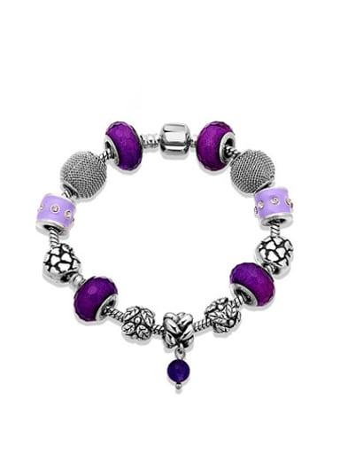 Purple AAA Rhinestones Handmade Bracelet
