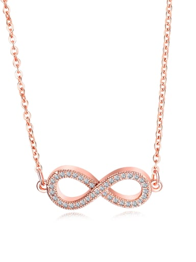 Copper With Rose Gold Plated Simplistic with infinite Necklaces