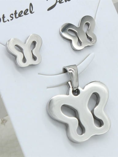 Stainless Steel Hollow Butterfly Set
