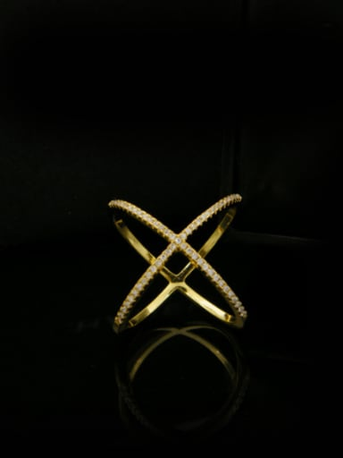 Simple Cross Lines Stacking Ring