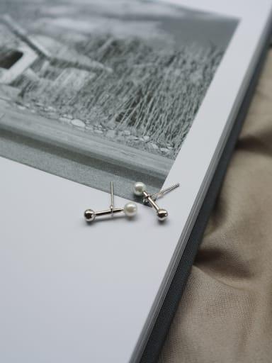 Sterling Silver minimalist bones ear studs
