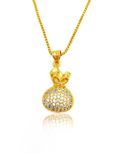 Luxury Purse Shaped Rhinestones Necklace