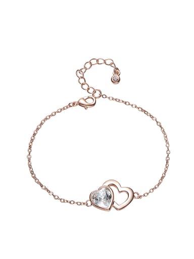 Simple Heart shaped Swarovski Crystal Bracelet