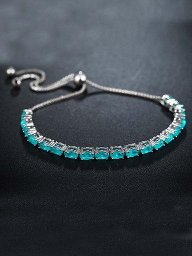 Blue Oval Zircon Bracelet